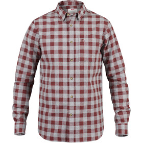 Fjällräven Övik Check Shirt Longsleeve Heren, red oak